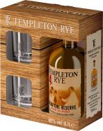 TEMPLETON RYE RESERVE 4 YO 0,7 40% + szklanki