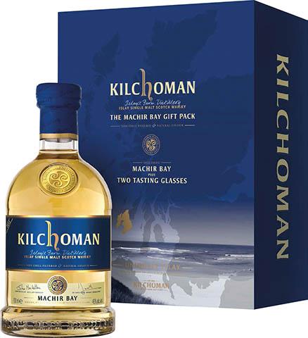 Kilchoman Single Malt Machir Bay + 2 Szklanki Glencairn