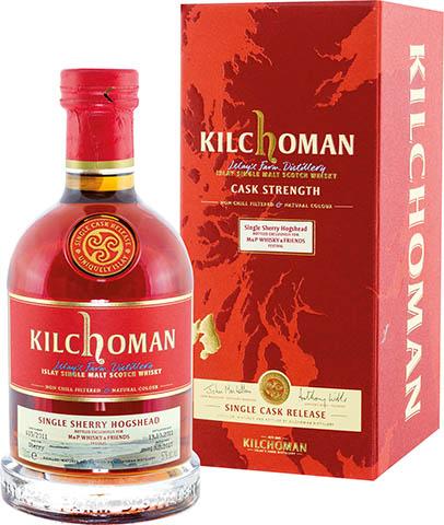 KILCHOMAN SINGLE CASK 615/11 57% SHERRY
