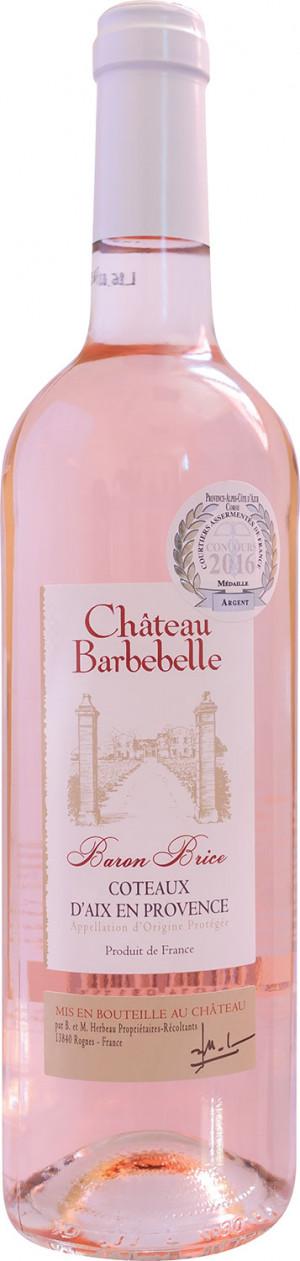Chateau Barbebelle Baron Brice Rose 2018