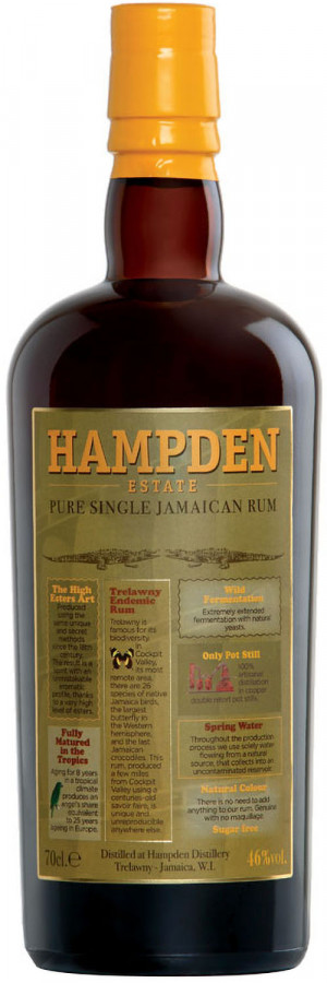 HAMPDEN ESTATE JAMAICAN RUM 46% 0,7