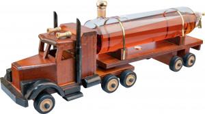 Tir z cysterną - Drewniany