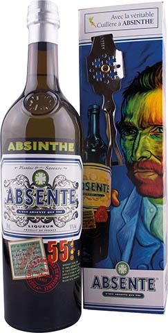 ABSENTE ABSINTHE 55% 0,7L KARTON+ŁYZKA