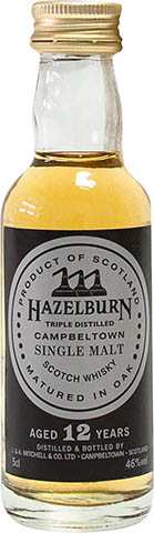 Hazelburn 12 YO Miniaturka