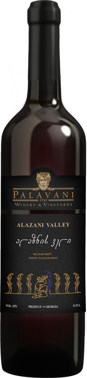 PALAVANI ALAZANI VALEY 0,75  RED SEMI SWEET