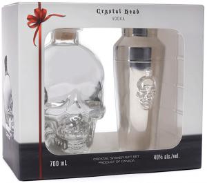 Crystal Head Vodka + Shaker