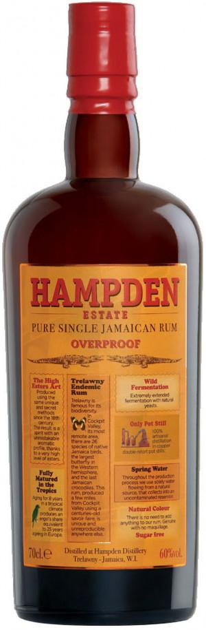 HAMPDEN EST OVERPROOF JAMAICAN RUM 60% 0,7